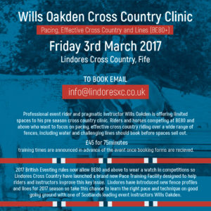Wills Oakden Cross Country Clinic @ Lindores Cross Country | United Kingdom